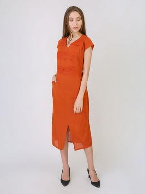 Сукня теракотового кольору | 5707893