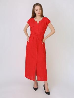 Сукня червоного кольору в горошок   5707899