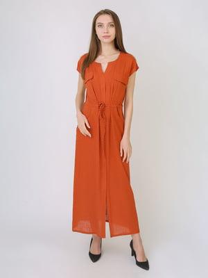 Сукня теракотового кольору в горошок   5707900
