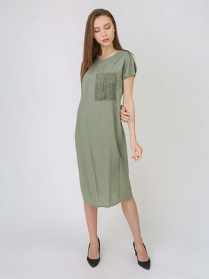 Платье оливкового цвета | 5707905