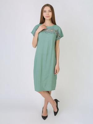 Платье серо-зеленое | 5707907