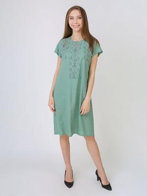 Платье серо-зеленое | 5707917