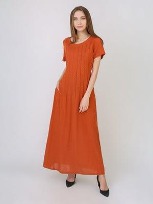 Сукня теракотового кольору в горошок   5707920