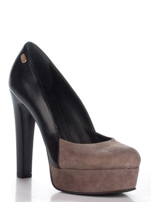 Туфли черно-кофейного цвета | 4913779