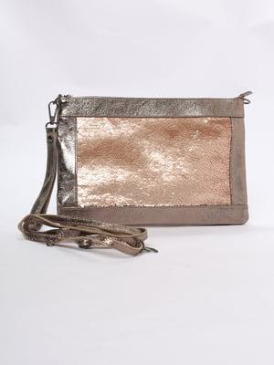 Сумка-клатч бронзового цвета | 5707667