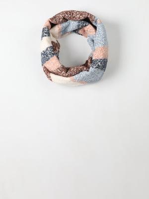 Шарф-снуд комбинированной расцветки | 5577721