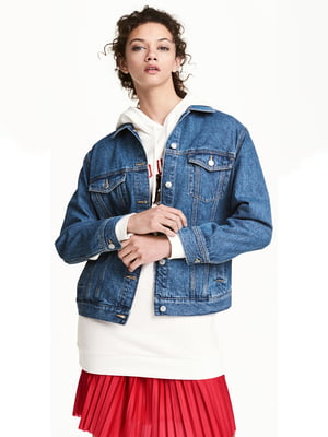 Куртка джинсовая синяя | 5718392