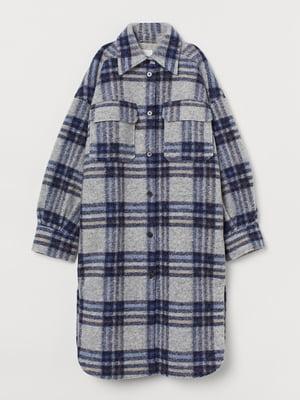 Куртка синя в клітинку | 5718395