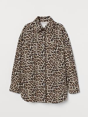 Куртка коричневая в принт | 5718396