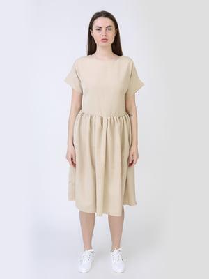 Платье бежевое | 5714031