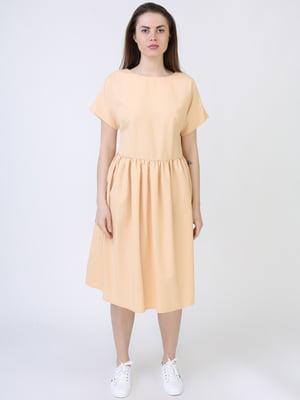Платье светло-бежевое | 5714032