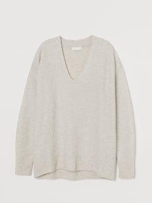 Пуловер бежевого цвета | 5702845