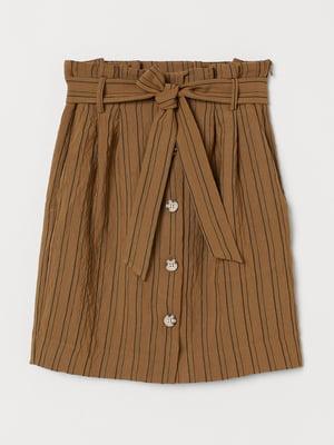 Юбка коричневого цвета в полоску | 5702964