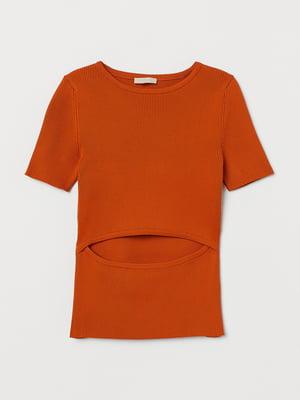 Джемпер-топ морквяного кольору | 5710171