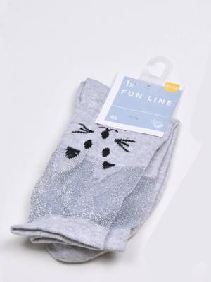 Шкарпетки сірі з принтом | 5717181