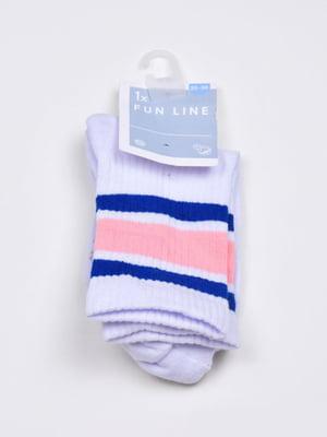 Носки белые в полоску | 5717974