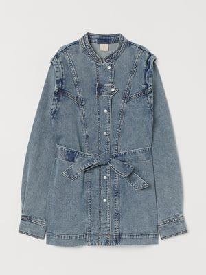 Куртка джинсова блакитного кольору | 5717999