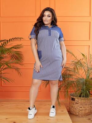 Сукня синя в смужку | 5718911