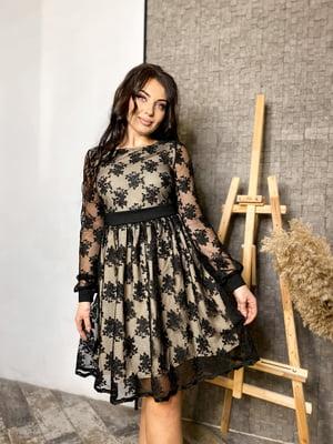 Платье черное с узором   5719042