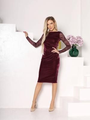 Сукня бордова з візерунком   5719062