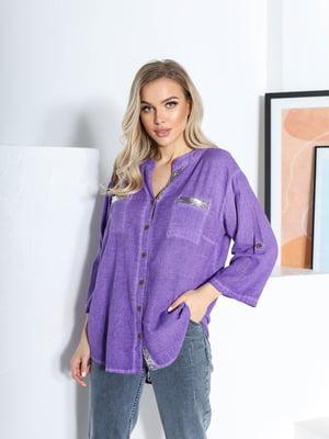 Рубашка лилового цвета | 5719078