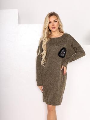 Сукня кольору хакі   5719106