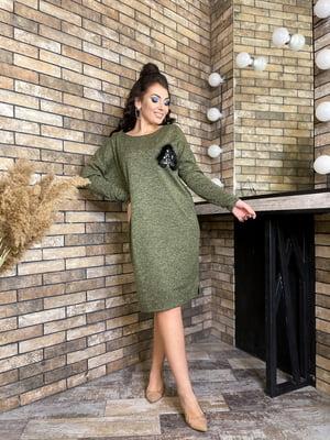 Платье цвета хаки | 5719108