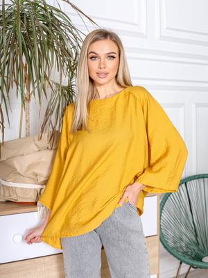 Блуза горчичного цвета | 5719127