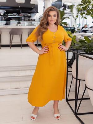 Платье горчичного цвета | 5718944