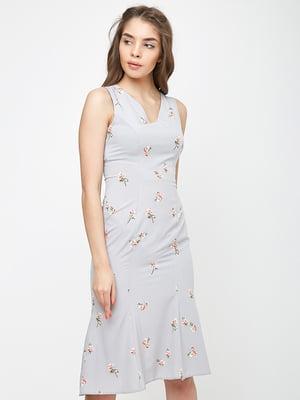 Платье серое в принт | 5719200