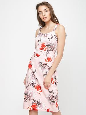 Сукня рожева у принт | 5719201