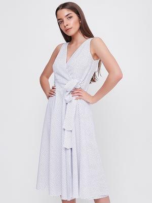 Сукня біла у принт | 5719207