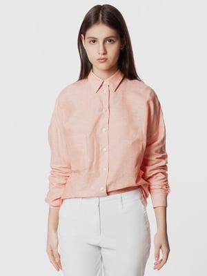 Рубашка кораллового цвета | 5719214