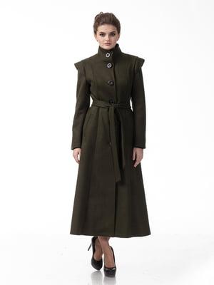 Пальто кольору хакі | 5718144