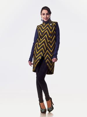 Пальто комбинированной расцветки | 5718152