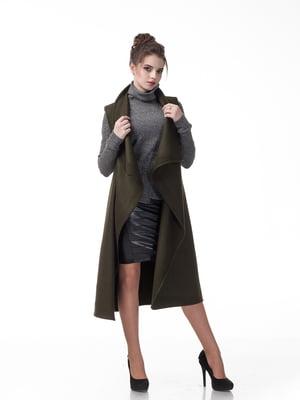 Пальто кольору хакі | 5718176