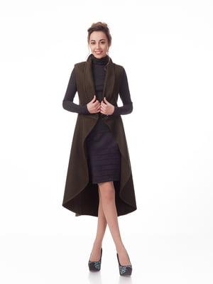Пальто кольору хакі | 5718186