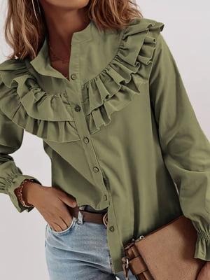 Рубашка цвета хаки | 5718972