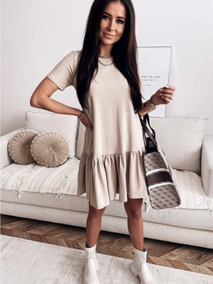 Сукня бежевого кольору | 5718998