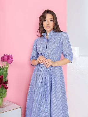 Платье синее в полоску | 5719010