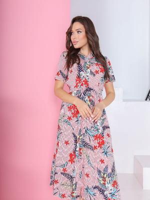 Сукня в смужку і квітковий принт   5719011