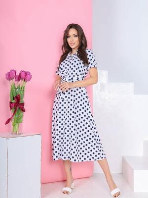 Платье белое в горошек | 5719013