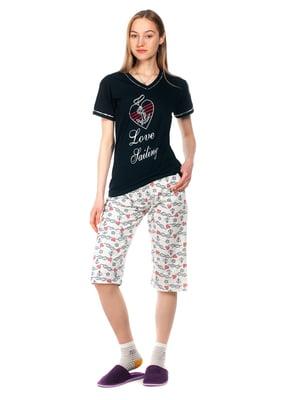 Пижама: футболка и капри | 5720206