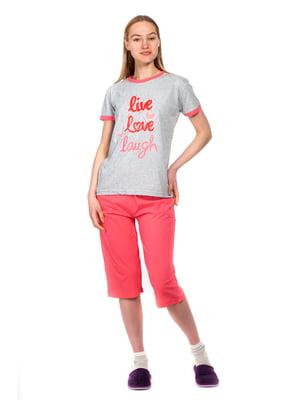 Пижама: футболка и капри | 5720210