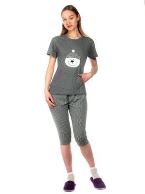 Пижама: футболка и капри | 5720222