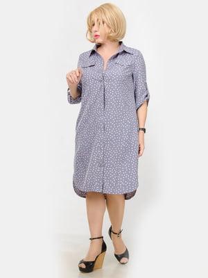 Сукня бузкового кольору у горошок | 5720253