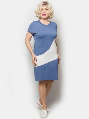 Сукня біло-блакитна | 5720260