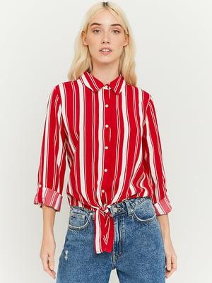 Рубашка красная в полоску | 5720335
