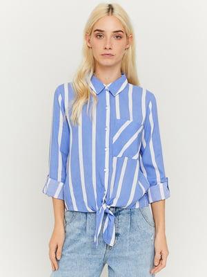 Рубашка голубая в полоску | 5720336
