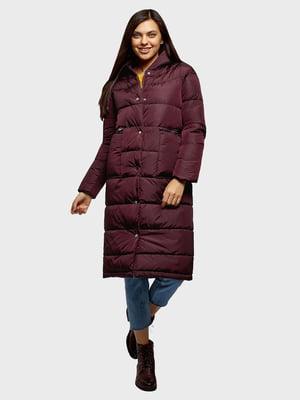 Пальто бордовое   5720983